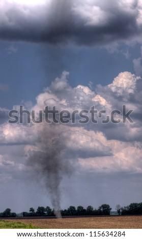 dust tornado - stock photo