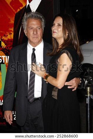 "Dustin Hoffman and Lisa Gottsegen at the HBO's Los Angeles Premiere of ""Luck"" held at the Grauman's Chinese Theatre in Los Angeles, California, United States on January 25, 2012."