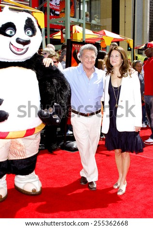 "Dustin Hoffman and wife Lisa attend the Los Angeles Premiere of ""Kung Fu Panda"" held at the Grauman's Chinese Theater in Hollywood, California, United States on June 1, 2008.  - stock photo"