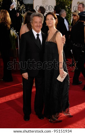 DUSTIN HOFFMAN & wife LISA GOTTSEGEN at the 64th Annual Golden Globe Awards at the Beverly Hilton Hotel. January 15, 2007 Beverly Hills, CA Picture: Paul Smith / Featureflash