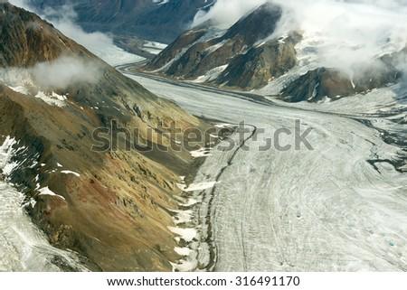 Dusty Glacier in Kluane National Park, Yukon 01 - stock photo