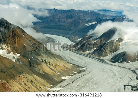 Dusty Glacier in Kluane National Park, Yukon 03 - stock photo