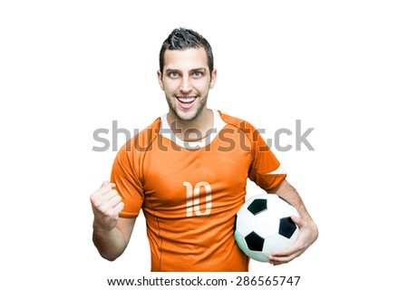 Dutch fan isolated on background