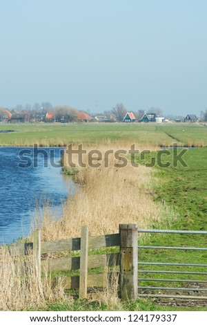Dutch landscape at island The Woude