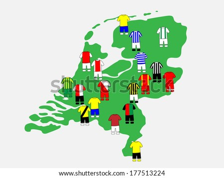 Dutch League Clubs Map 2013-14 Eredivisie