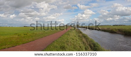 Dutch polder (Eemnes) - stock photo