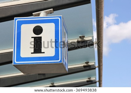 Dutch road sign: information - stock photo
