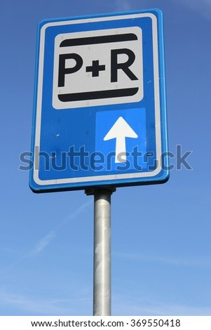 Dutch road sign: park and ride facilities