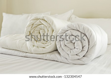Duvet stock images royalty free images vectors for How to change a duvet cover by rolling