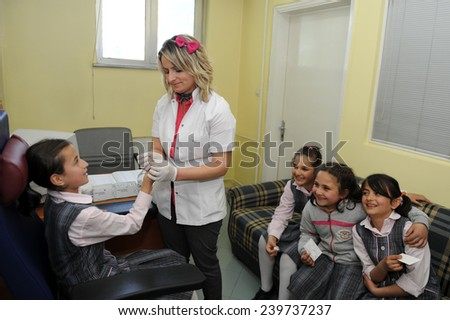 DUZCE, TURKEY - APRIL 22, 2010: unidentified patients examined in the District Hospital on April 22, 2010 Duzce,Turkey