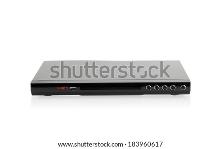 DVD audio player isolated on white background