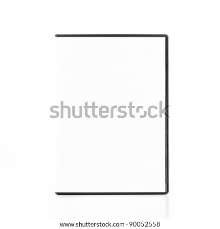 DvD Blank Case isolated on white background - stock photo