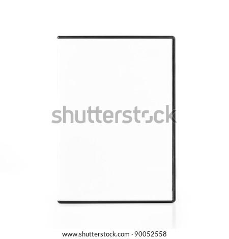 DvD Blank Case isolated on white background - stock photo