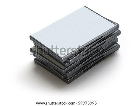 DVD box - stock photo