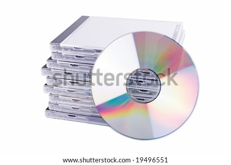 DVD case isolated on a white background - stock photo