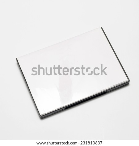dvd case on a white background
