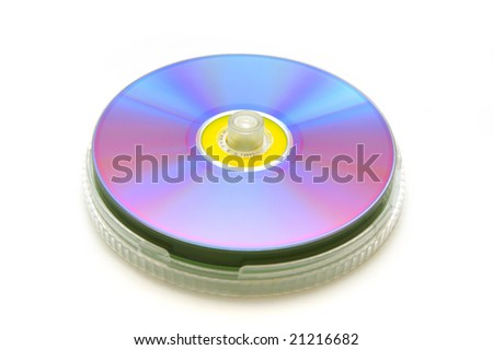 DVD disk closeup - stock photo