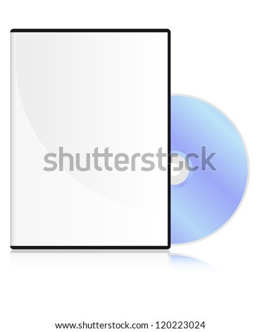 DVD disk with a blank cover - stock photo
