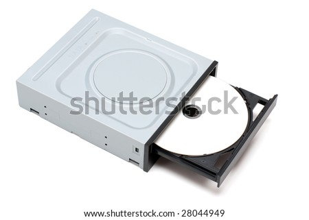 DVD Drive with disk - stock photo