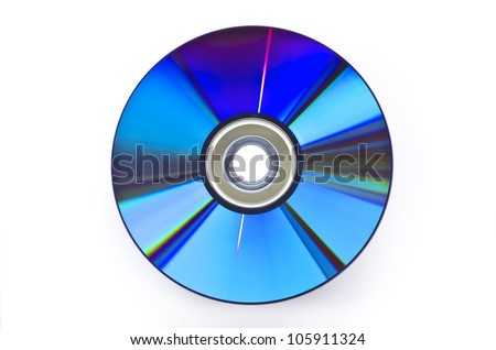 DVD isolated on White - stock photo