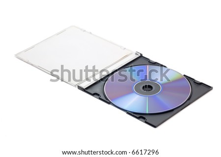 DVD isolated on white