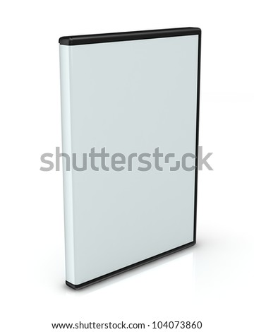 DVD or CD case isolated on white - stock photo