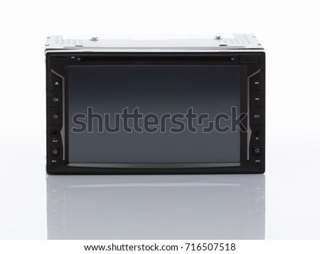 DVD player for car on White background