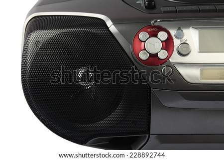 DVD Player with Speaker - stock photo