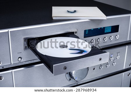 DVD players and amplifiers - stock photo