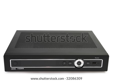 Dvd recorder isolated on a white background. - stock photo
