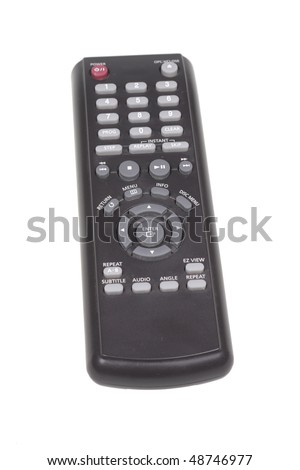 DVD remote control. Isolated object on a white background