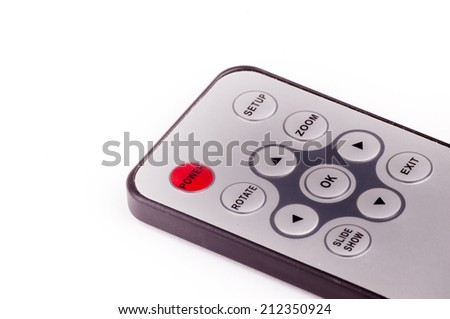 Dvd remote control isolated on white background - stock photo
