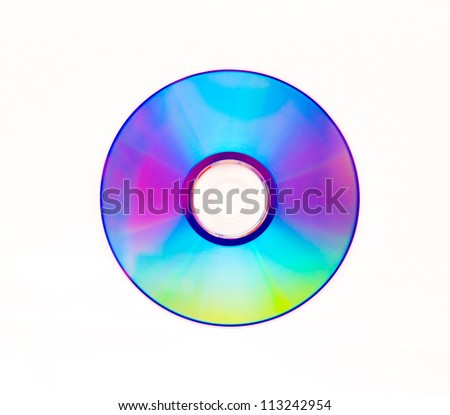 dvd-rom isolated on white background