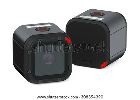 DVR Dash Camera isolated on white background