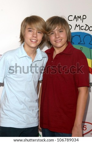 Dylan Sprouse and Cole Sprouse  at Camp Ronald McDonald's 16th Annual Family Halloween Carnival. Universal Studios, Universal City, CA. 10-26-08 - stock photo
