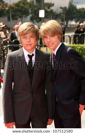 Dylan Sprouse and Cole Sprouse  At the 60th Primetime Creative Arts Emmy Awards Red Carpet. Nokia Live Theater, Los Angeles, CA. 09-13-08