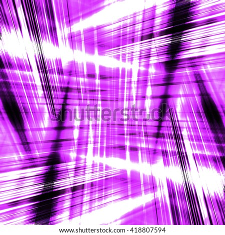 Dynamic black and purple streaks on a white background