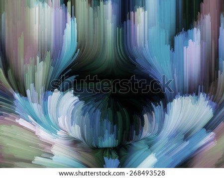 Dynamic Color series. Composition of  streams of paint to serve as a supporting backdrop for projects on forces of nature, art, design and creativity - stock photo