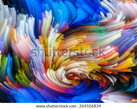 Dynamic Color series. Visually attractive backdrop made of streams of paint suitable as element for layouts on forces of nature, art, design and creativity - stock photo