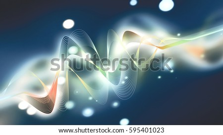 dynamic colorful digital wave on a dark background