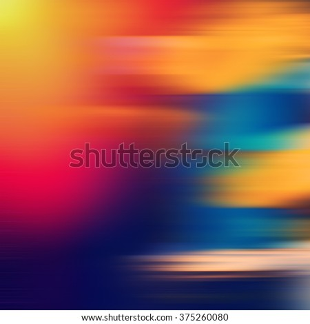 dynamic composition horizontal colored lines, blurred background - stock photo
