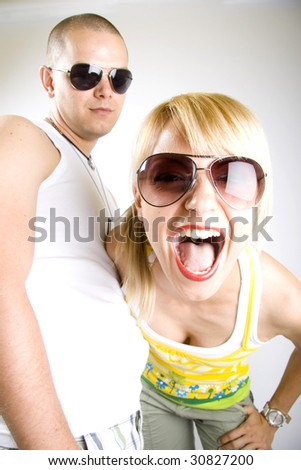 dynamic picture of a casual young couple