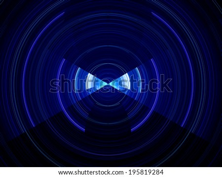 Dynamic time passing, abstract computer generated background