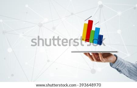 Dynamics of market sales - stock photo