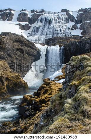 Dynjandi waterfall - stock photo