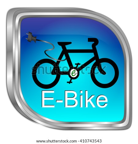 E-Bike Button - 3D illustration