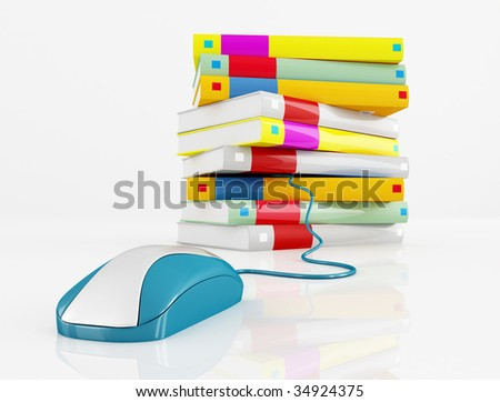 e book concept for many use - rendering - stock photo