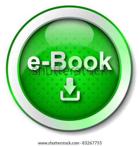 E-Book download icon - stock photo