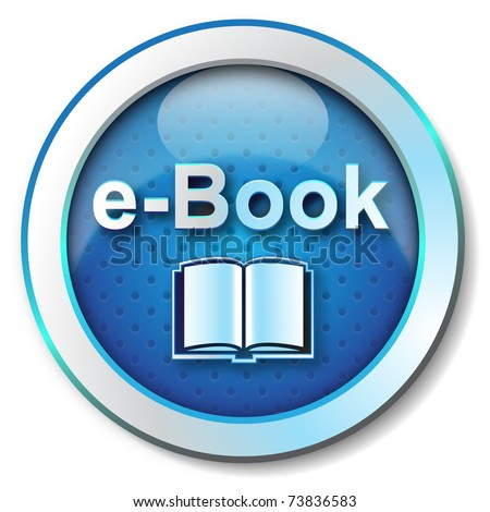 E-book icon - stock photo