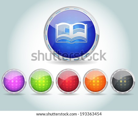 e-book icons - stock photo